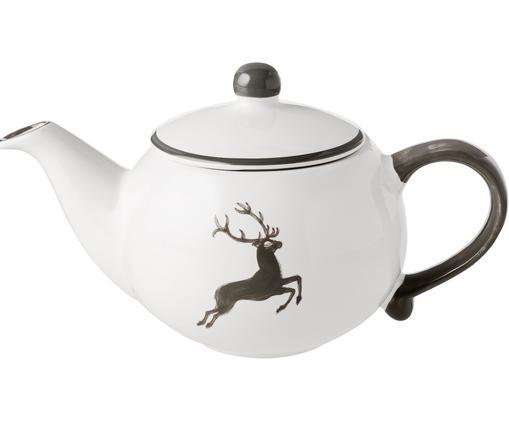 Handbemalte Teekanne Classic Grauer Hirsch