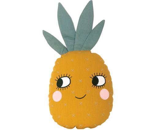 Kissen Pineapple aus Bio-Baumwolle, mit Inlett
