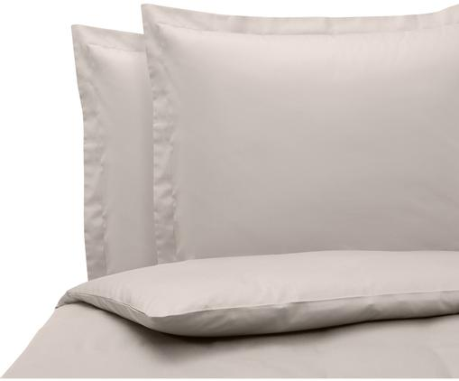 Satin-Bettwäsche Premium aus Bio-Baumwolle in Taupe mit Stehsaum