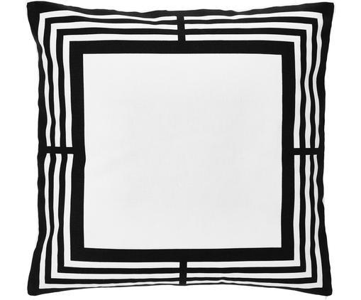 Kissenhülle Zahra in Schwarz/Weiß mit grafischem Muster