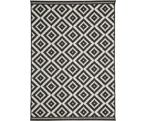 Gemusterter In- & Outdoor-Teppich Miami in Schwarz/Weiß