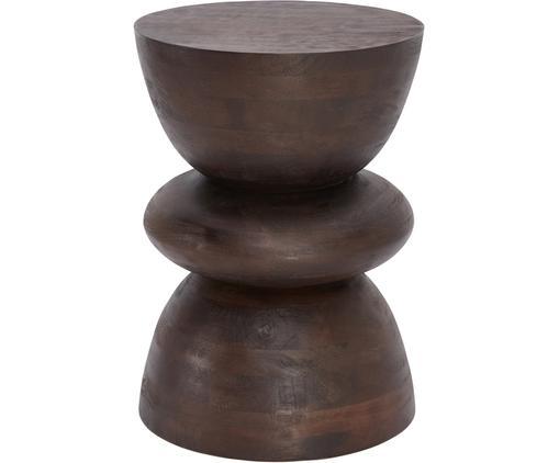 Beistelltisch Benno aus Mangoholz in Braun