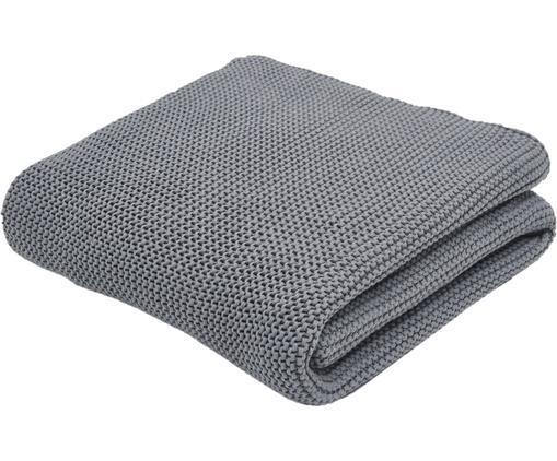 Strickdecke Adalyn aus Bio-Baumwolle in Grau
