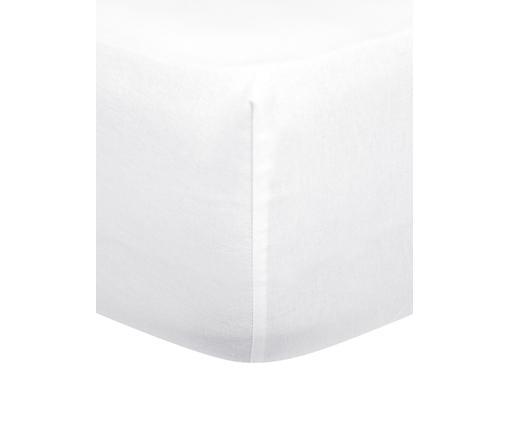 Flanell-Spannbettlaken Biba in Weiß