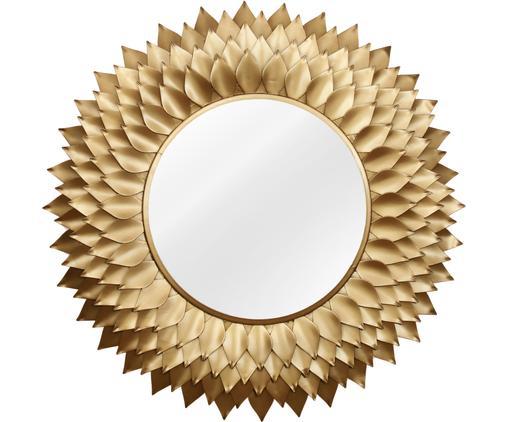 Runder Wandspiegel Petal mit Goldrahmen