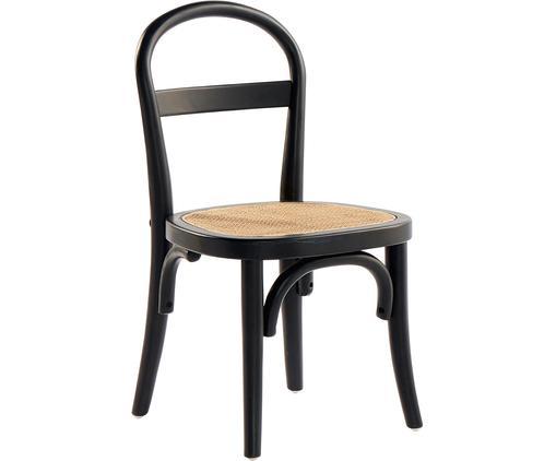 Holz-Kinderstühle Rippats mit Wiener Geflecht, 2 Stück
