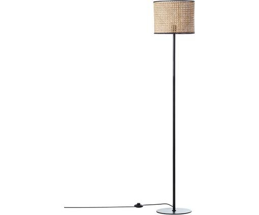 Stehlampe Wiley mit Rattanschirm