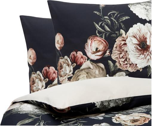 Baumwollsatin-Bettwäsche Blossom mit Blumen-Print