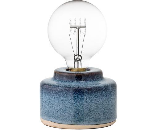 Kleine Porzellan-Tischlampe Celain in Blau