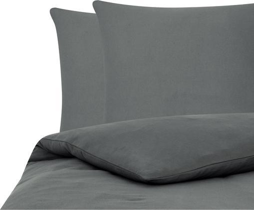 Flanell-Bettwäsche Biba in Grau