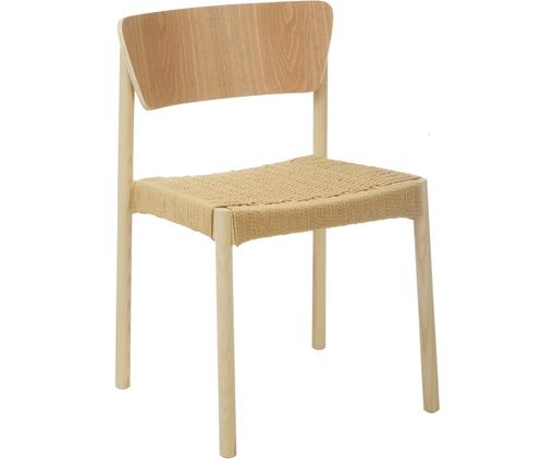 Holzstühle Danny mit Rattan-Sitzfläche, 2 Stück