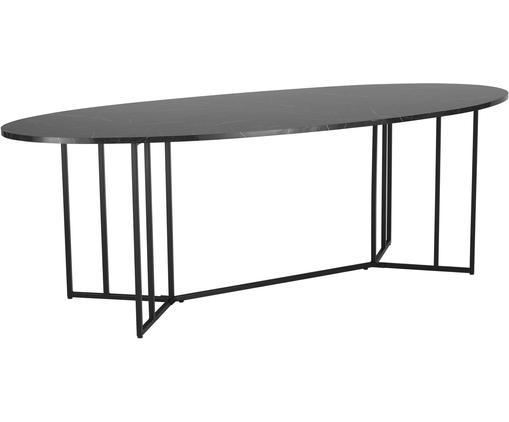Ovaler Esstisch Luca in Marmoroptik, 240 x 100 cm