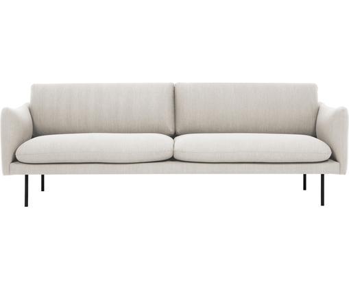Sofa Moby (3-Sitzer) in Beige mit Metall-Füßen