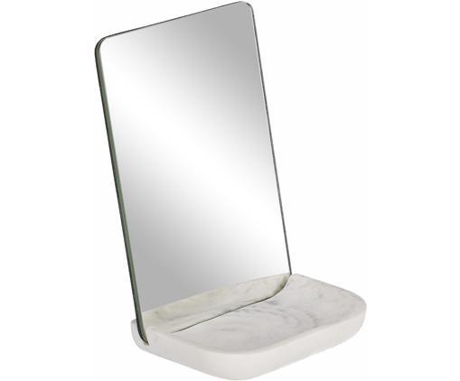 Kosmetikspiegel Sharif mit Ablagefläche aus Marmor
