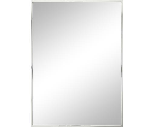Eckiger Wandspiegel Alpha mit Silberrahmen
