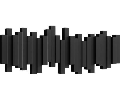 Garderobenhaken Sticks mit Stäbchendesign in Schwarz