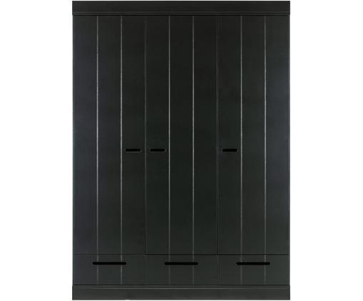Kleiderschrank Connect mit 3 Türen in Schwarz