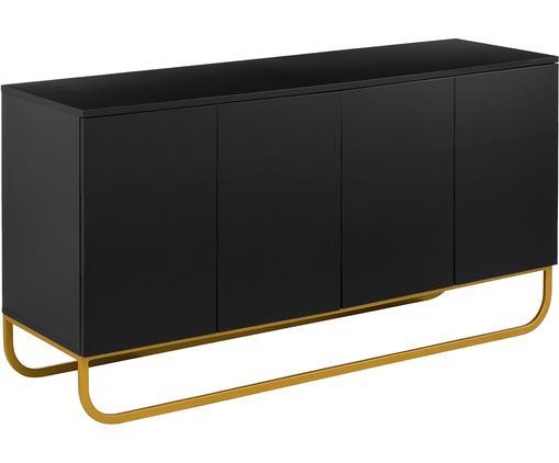 Klassisches Sideboard Sanford in Schwarz mit Türen