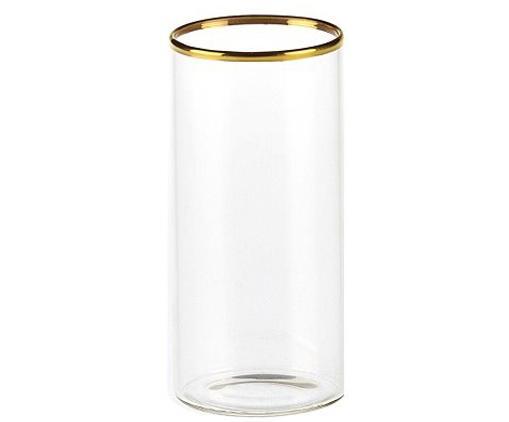 Wassergläser Boro aus Borosilikatglas mit goldfarbenem Rand, 6 Stück