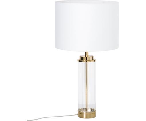 Große Glam-Tischlampe Gabor mit Glasfuß
