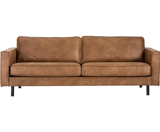 Sofa Hunter (3-Sitzer) in Braun aus recyceltem Leder