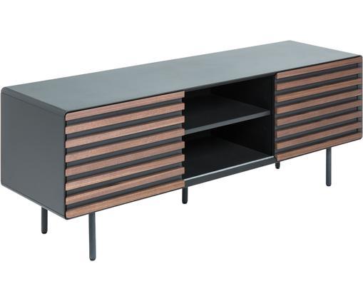 TV-Lowboard Kesia mit Türen aus Walnussfurnier