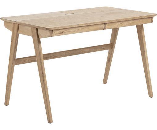 Holz-Schreibtisch Jacques mit Kabeldurchlass