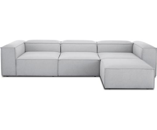 Modulares Sofa Lennon (4-Sitzer) mit Hocker in Hellgrau