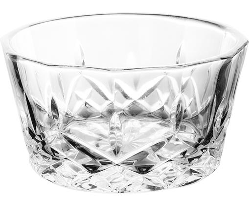 Glas-Dipschälchen Harvey mit Kristallrelief, 4 Stück