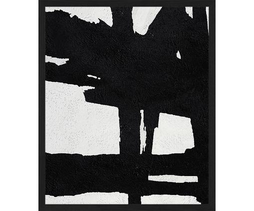 Gerahmter Digitaldruck Abstract Black