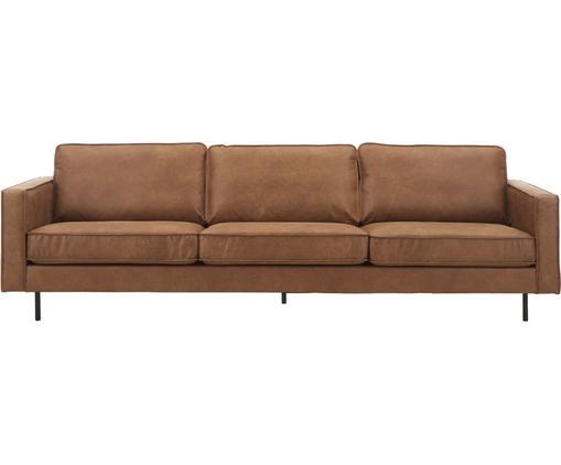 Sofa Hunter (4-Sitzer) in Braun aus recyceltem Leder