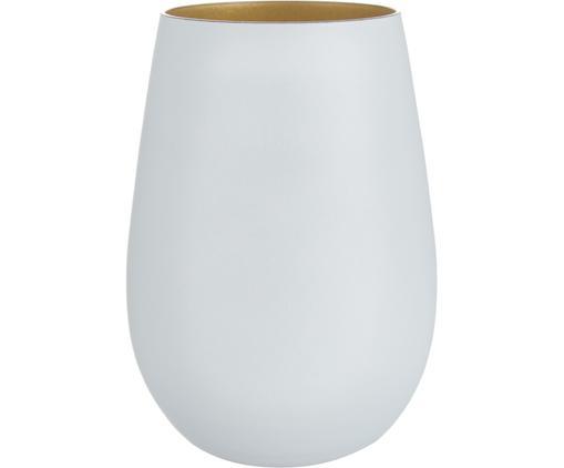 Kristall-Longdrinkgläser Elements in Weiß/Gold, 6 Stück