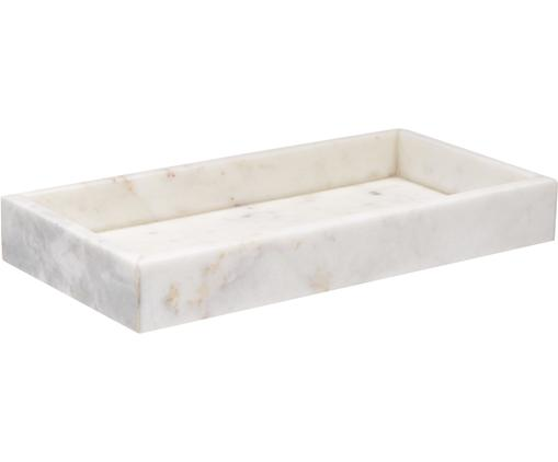 Deko-Marmor-Tablett Sienna in Weiß