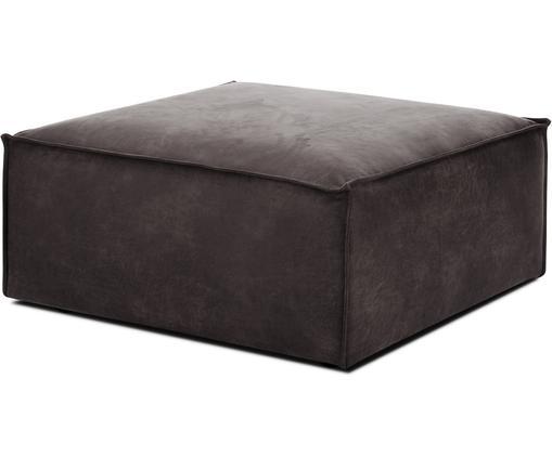 Sofa-Hocker Lennon in Braungrau aus recyceltem Leder