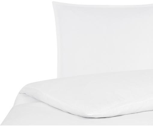 Gewaschene Leinen-Bettwäsche Nature in Weiß