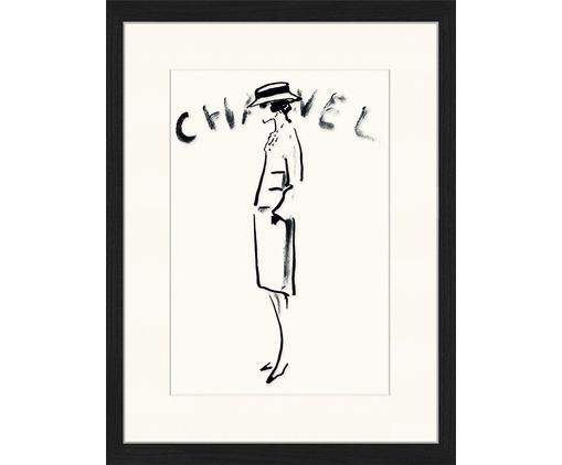 Gerahmter Digitaldruck Chanel