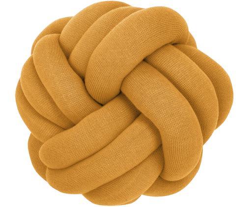 Knoten-Kissen Twist in Senfgelb