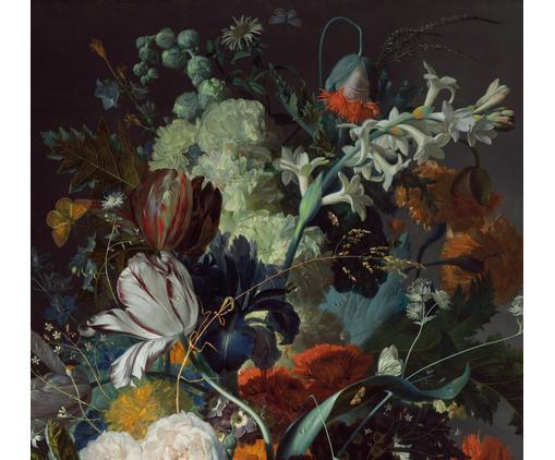 Fototapete Oil Painted Flowers Dark