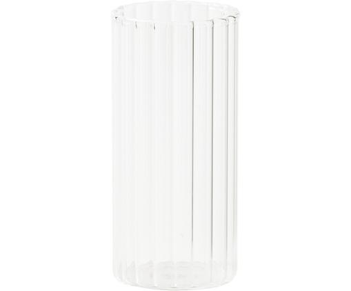 Wassergläser Romantic aus Borosilikatglas mit Rillenrelief, 6 Stück