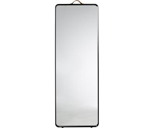Eckiger Wandspiegel Norm mit schwarzem Aluminiumrahmen