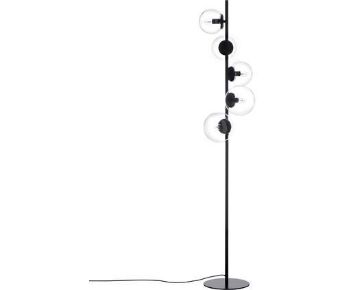 Industrial-Stehlampe Casey aus Glas
