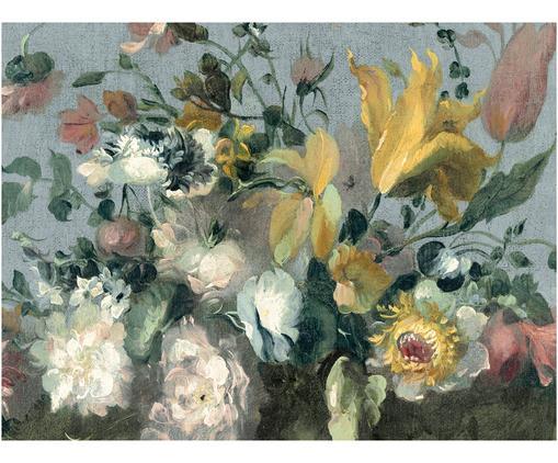 Fototapete Oil Painted Flowers Bright