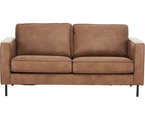 Sofa Hunter (2-Sitzer) in Braun aus recyceltem Leder