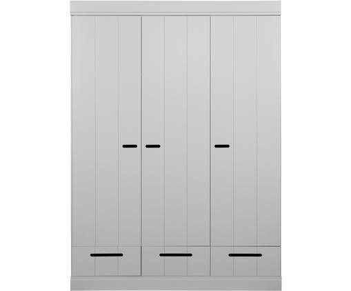 Kleiderschrank Connect mit 3 Türen in Hellgrau