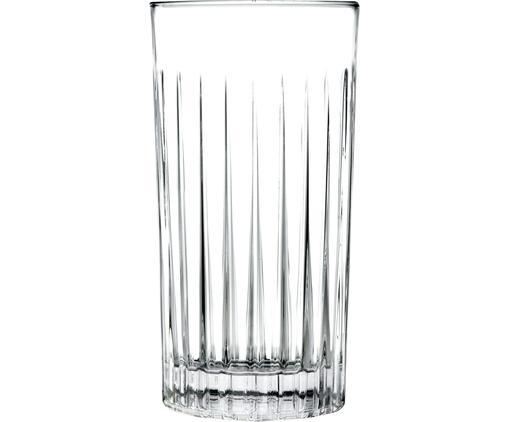 Kristall-Longdrinkgläser Timeless mit Rillenrelief, 6 Stück
