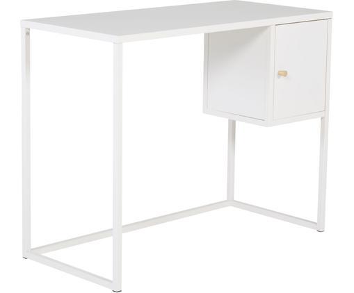 Schmaler Schreibtisch Bakal in Weiß