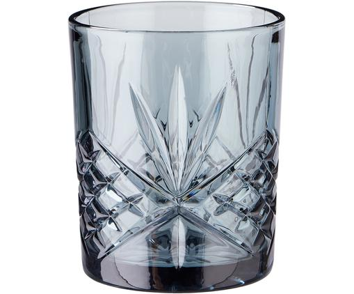 Gläser Crystal Club in Grau mit Kristallrelief, 4 Stück
