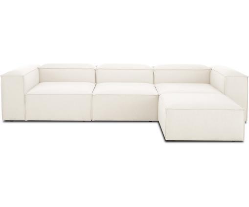 Modulares Sofa Lennon (4-Sitzer) mit Hocker in Beige