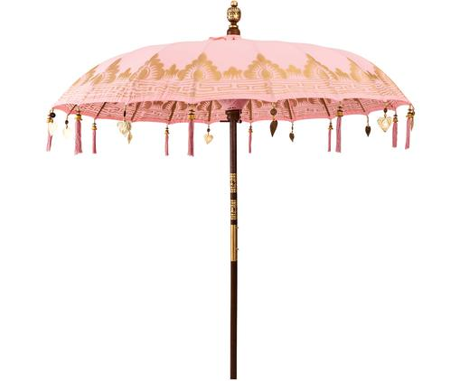 Runder Sonnenschirm Oriental Lounge in Rosa, Ø 180 cm