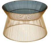 Okrągły stolik kawowy ze szklanym blatem Vic
